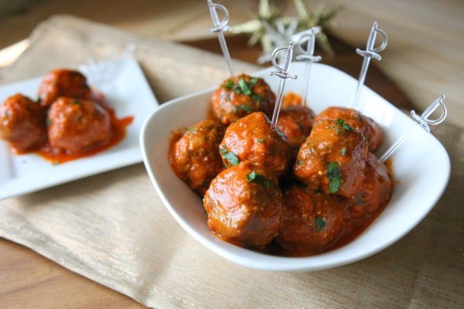 Roasted Red Pepper Meatballs