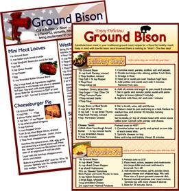 Recipes: Ground Bison